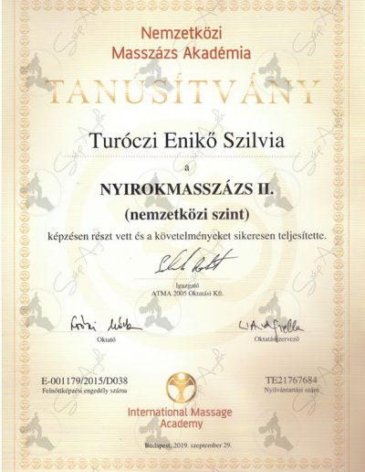 Nyirokmasszázs II.