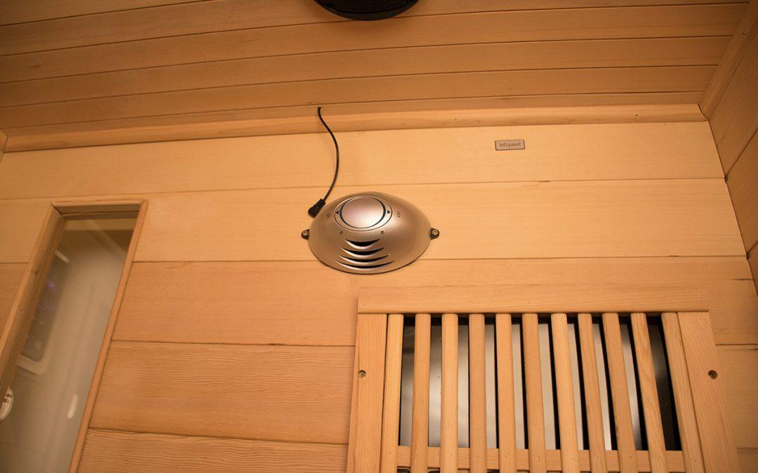 Ionizátor a szaunában, a friss levegő érdekében.