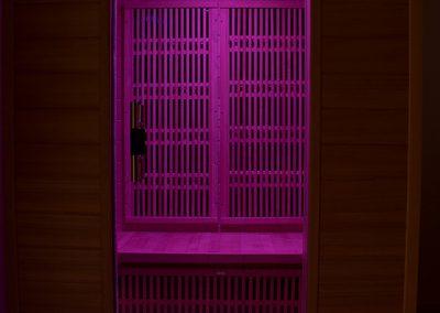Szauna pink LED világítás fényterápia