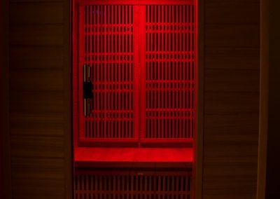 Szauna vörös LED fényterápia