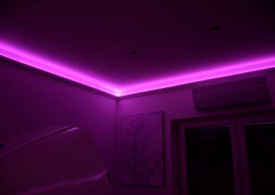 LED világítás a szalonban